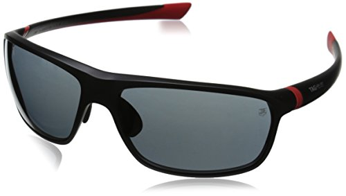 Tag Heuer 27 Degree 6023 102 6023102 Rectangular Sunglasses, Red Matte,Black & Grey, 65 - Degree With Sunglasses