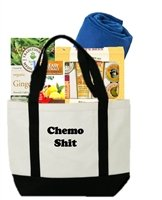 Something Perfect Gift for Cancer Patient Tote - Chemo Shit (Chemo Gift Basket)
