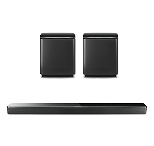 Bose Home Entertainment System with SoundTouch 300 Soundbar, and Dual Sub Acoustimass 300 Wireless Bass Module, Black