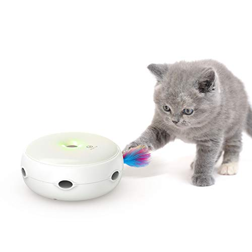 VAVAPet Interactive Cat Toys, Three Modes Day&Night Play Automatic Interactive Cat Toy with Electronic Randomly…