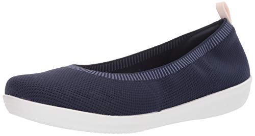 Clarks Women's Ayla Paige Loafer Flat, navy knit, 8.5 M US