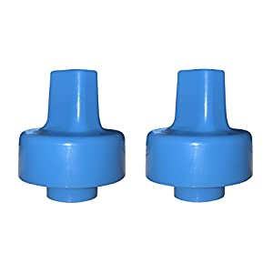 Spout Adapter Turns Water Bottles into Sippy Cups, Bottled Water for Toddlers and Babies On-The-Go by Refresh-A-Baby (2-Pack, Blue)