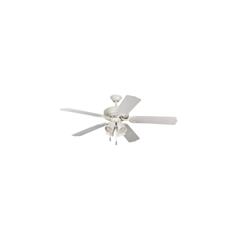 Yosemite SHARON WH White Sharon Four Light Down Lighting Five Blade Indoor / Outdoor Ceiling Fan fro