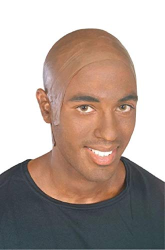 Latex Light Dark Skin Bald Cap Halloween Costume Hair Accessories -