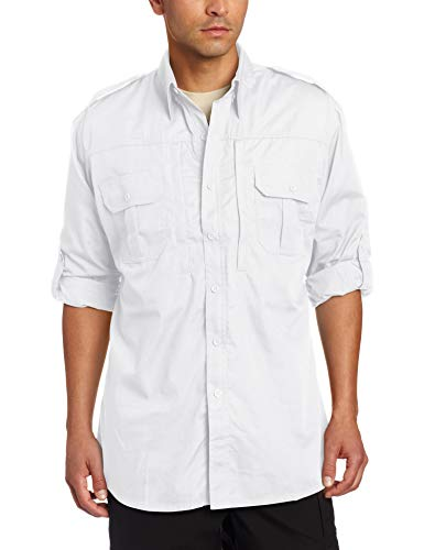 Propper Men's Long Sleeve Poplin Tactical Shirt, X-Small, White ()