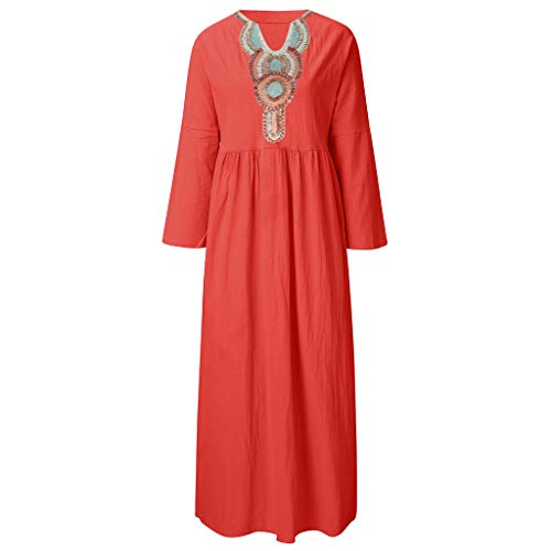 - Big Sale,YetouWomens Boho Floral Print Dress Button Down Deep V Neck Ruffle Beach Mini Dresses Red