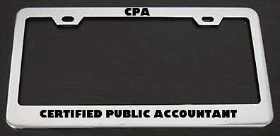 (Billion_Store CPA Certified Public Accountant License Plate Frame Premium Stainless Steel License Plate Frame Materials)