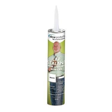 Dicor 551LSW1 White Non-Sag Roof Lap Sealant - 10.3 oz. Tube (Quantity 25) by Dicor