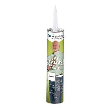 Dicor 551LSW1 White Non-Sag Roof Lap Sealant - 10.3 oz. Tube (Quantity 25)