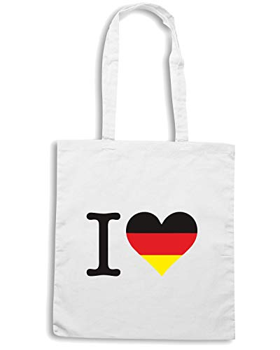 Borsa Shopper Bianca WC0407 I LOVE GERMANY