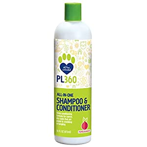 PL360 All-in-One Dog Shampoo & Conditioner, Fresh Pomegranate, 16 Ounces 90