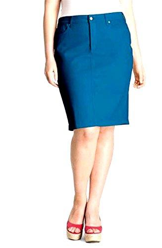 Navy Twill Skirt (Jack David Sexy Womens Plus Size Stretch Denim Jeans Casual Twill Cotton Skirt Modern Series (3X, Navy/Blue Twill Cotton Skirt))