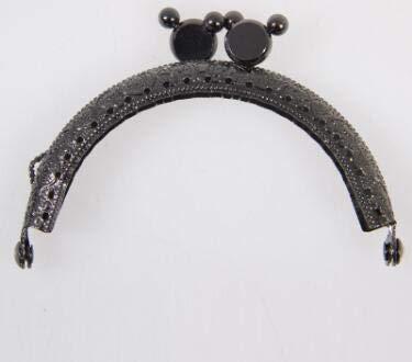 Buckes - 20pcs 8.5cm Metal Buckle for Bag DIY Needlework Sewing Supplies Handmade Metal Purse Frame with Kiss Lock Clutch Frame AU532 - (Color: Gun Black)