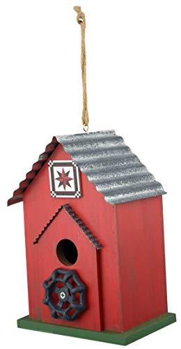 Red Carpet Studios 40845 Barn Quilt Bird House, Red