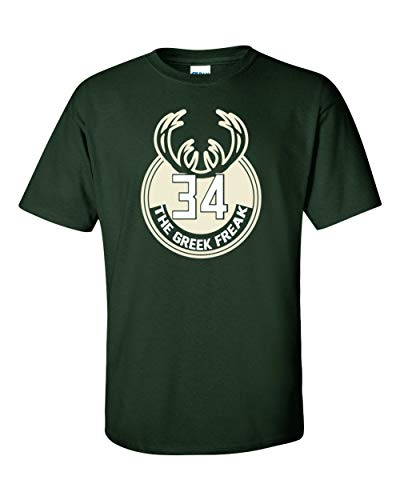 Green Milwaukee Giannis Greek Logo T-Shirt Adult