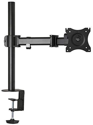 Gladiator Joe Heavy Duty Single/one Desktop Monitor Mount/arm VESA Compatible | Fully Adjustable articulating arm | Supports Heavy Monitors | 13 to 27 inch | 17.6 lb