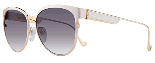 Chrome Hearts Blow Jay II Sunglasses (59mm) (White Pearl / Gold Plated-White - Jays Blue Sunglasses