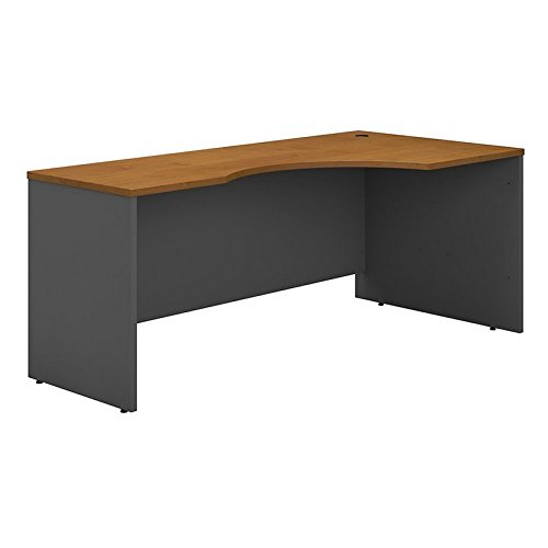 Bush Business Furniture Series C 72W Right Handed Corner Desk in Natural Cherry by Bush Business Furniture