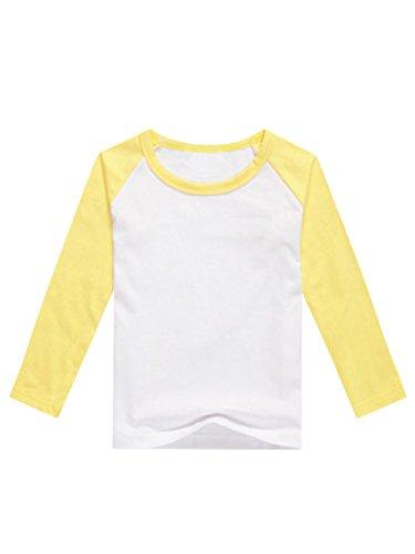 8982db46992 GAMISOTE Boys Raglan Baseball Tee Girls Long Sleeve Jersey T Shirts Unisex  Baby Kid Tops