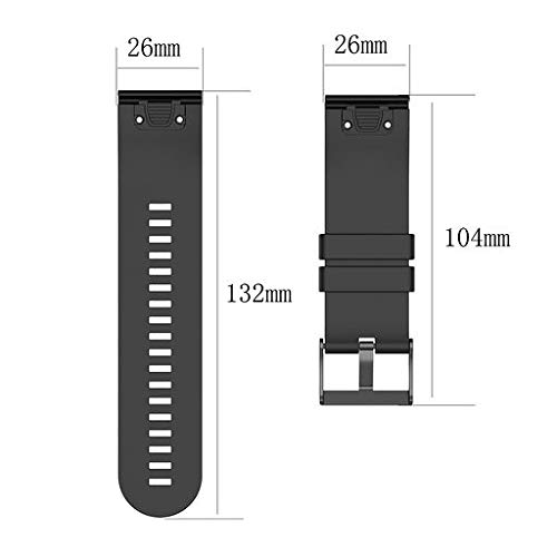 Lyperkin Compatible with Garmin Fenix 5 Plus Watch Band 22mm, Fashion Soft Silicone Quick Install Kit Watch Strap Replacement Buckle Strap Wristband Watch Band Wrist Strap, Easy Fit - Multicolor