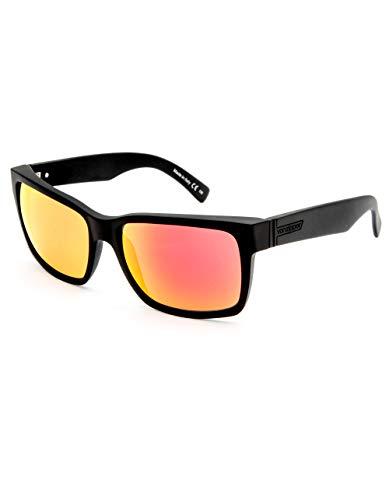 (VON ZIPPER Elmore Black & Lunar Chrome Sunglasses, Matte Black)
