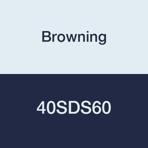 Browning 40SDS60 Roller Chain Sprocket, Single Strand, Q-D, Bushed, Steel, 40 Pitch, 60 Teeth