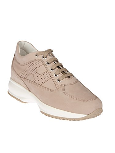 Hogan Damen HXW00N00E30A8HC600 Beige Wildleder Sneakers
