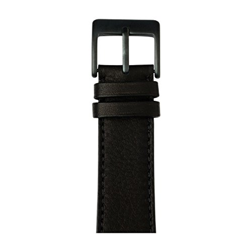 Roobaya | Premium Sauvage Leather Apple Watch Band in Black | Includes Adapters matching the Color of the Apple Watch, Case Color:Space Gray Aluminum, Size:42 mm by Roobaya