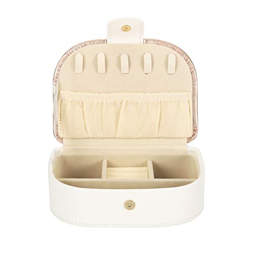 aeepd Jewellery Box Organizer Travel PU Leather Portable Storage Case for Rings, Earring, Necklaces- Great Gift for Girl Women