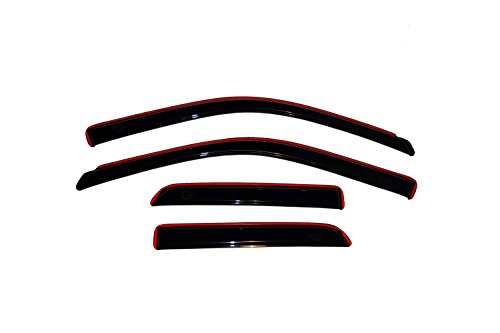 Auto Ventshade 194101 In-Channel Ventvisor Side Window Deflector, 4-Piece Set for 2009-2018 Dodge Ram 1500; 2019 Ram 1500 Classic | Fits Extended Cab ()