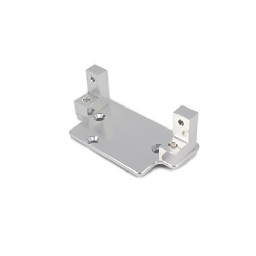 RCAWD Servo Plate W Mount(180010/18010) Machined Alloy Aluminum for Rc Hobby Model Car 1:10 HSP Hispeed 94180 Rock Crawler Upgraded Hop-Up Parts 1Pcs(Silver)