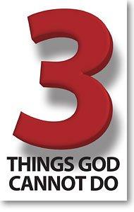 3 Things God Cannot Do (Packet of 20, KJV)