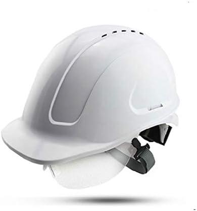 Rui Peng 安全性 ハード帽子 - ABS高電圧絶縁ベルトゴーグル/耐衝撃性電気技師マイナー安全ヘルメット - 調節可能建設ヘルメット - 個人用保護具 - 2色 (Color : White)