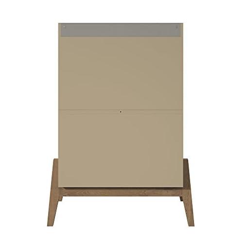 Bedroom Manhattan Comfort Essence Tall Mid-Century Bedroom Dresser, Grey modern dressers
