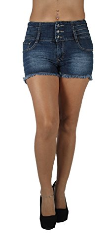 DH1127 - High Rise Colombian Style Stretch Denim, Butt Lift, Sexy Shorts Size 7
