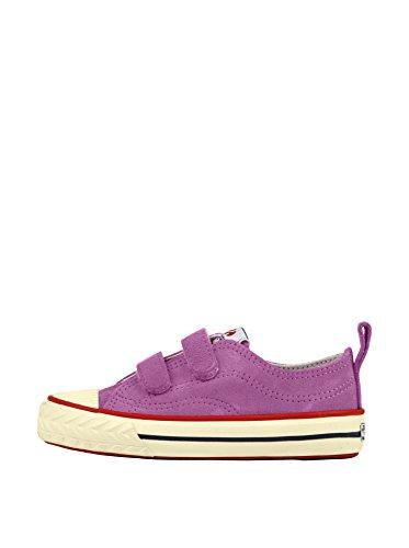 Superga 298 Suvj - Zapatos de punta redonda con cierre de velcro, Marrón (Braun), 32 Lilla
