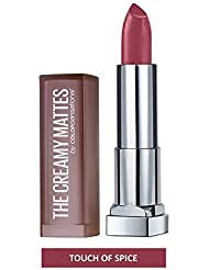 Maybelline New York Color Sensational Nude Lipstick Matte Lipstick, Touch of Spice, 0.15 ounce