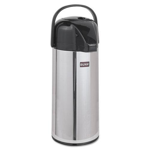 BUNN AIRPOT22 Airpot Carafe, 2200mL, Stainless Steel by Bunn