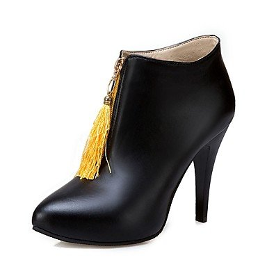 Amarillo Vestimenta Botines Mujer Fucsia Stiletto Para Botas RTRY De Botines Casual UK8 Señaló Invierno Talón Borla Bootie US10 CN43 Zipper 5 EU42 Zapatos Toe Polipiel 5 aWFwqFH7