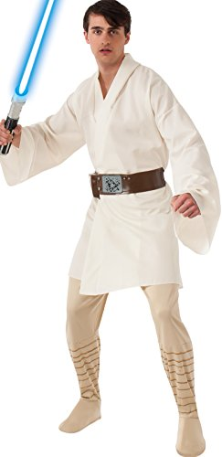 Rubie's Costume Star Wars A New Hope Deluxe Luke Skywalker, White, One Size (Star Wars Luke Skywalker Costume)