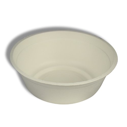 Stalkmarket 100% Compostable Sugar Cane Fiber Soup Bowl, 32-Ounce, 500-Count Case by Stalkmarket