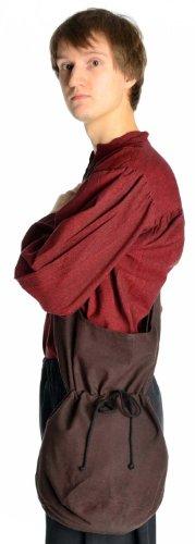 Bolso Azul hombro Marrón en Marrón HEMAD Beige L Negro Rojo Verde de algodón medieval dq8nxBnU