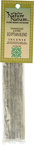 "Egyptian Blend Frankincense and Myrrh ""Pure Resin Over Stick"" Incense - Nature Nature - 10 Sticks"
