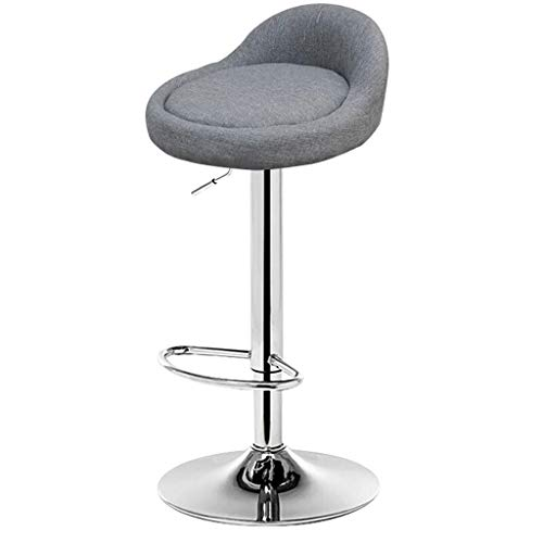 Bar Stools Modern Round Back Adjustable Counter Height Swivel Stool Kitchen Bistro Pub Chair Barstool with Chrome Plated Footrest and Base FENPING (Size : ()