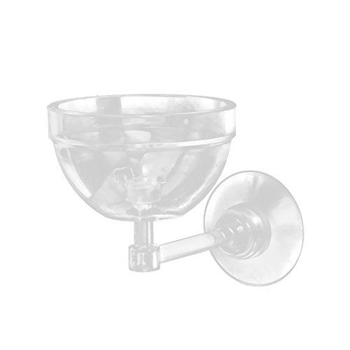 Transparent Aquatic Plant Pot Bowl Holder with Suction Cup for Aquarium Fish Tank Live - Aquatic Bowl