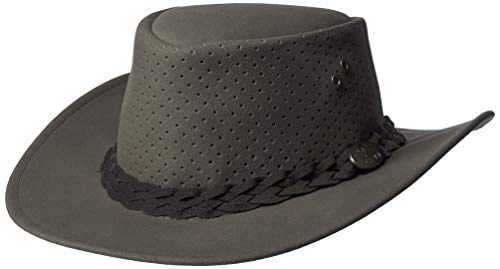 Aussie Chiller Bushie Perforated Hats Grey Large
