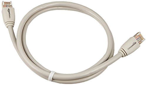 AmazonBasics RJ45 Cat7 Network Ethernet Patch Cable 5 Cat-7 Ethernet patch cable for wired home and office networks Connects computers to network components in a wired LAN RJ45 connectors ensure universal connectivity; data speed up to 10 Gigabits per second