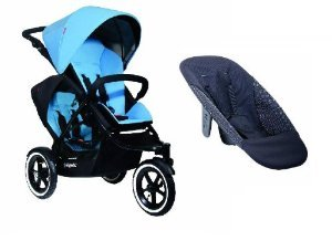 Phil and Teds Navigator With Doubles Kit and Face To Face Seat (Sky) (Phil And Teds Navigator Stroller With Doubles Kit)