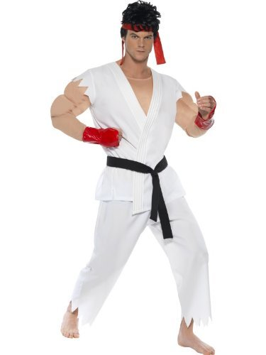 Smiffys Men'S Street Fighter Ivtm Ryu Costume -