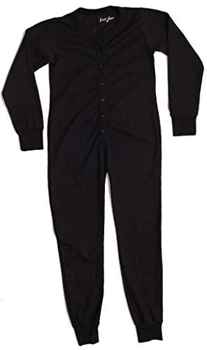 Just Love Thermal Union Suits for Girls 96363-BLK-10-12 Black